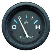 Указатель температуры воды  серии Flagship с черным циферблатом
