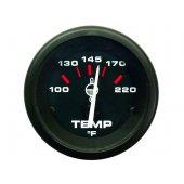 Указатель температуры воды серии Admiral  с черным циферблатом