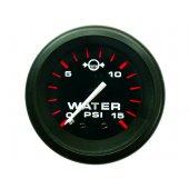 Указатель давления воды серии Admiral  с черным циферблатом