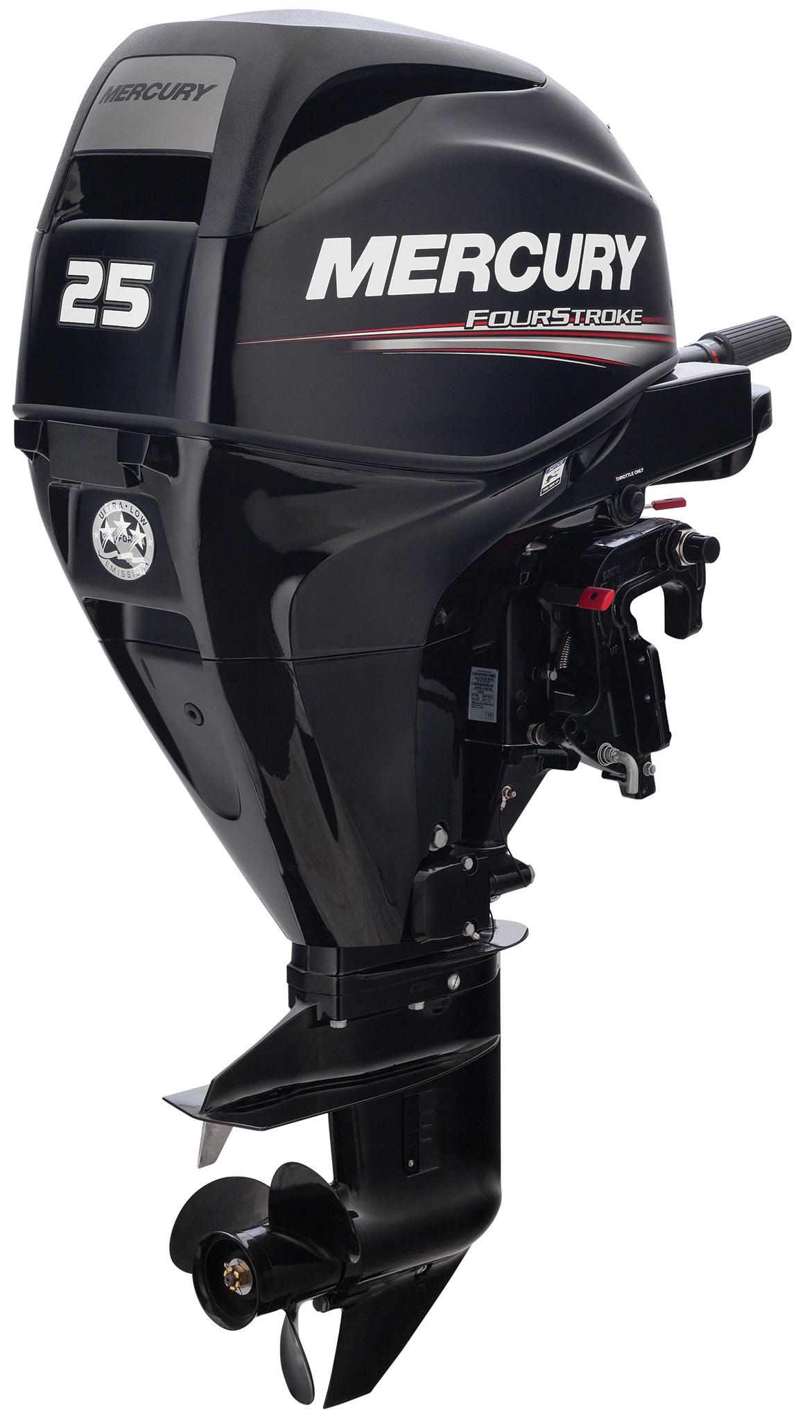 Четырехтактный лодочный мотор MERCURY F25 EL EFI - 1