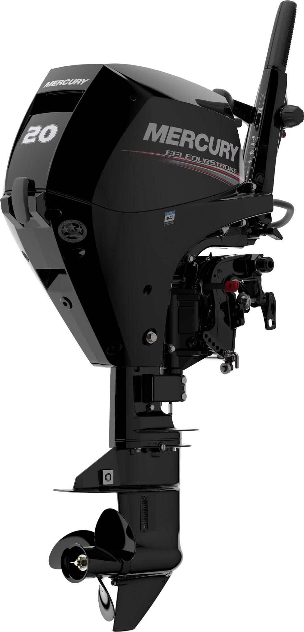 Четырехтактный лодочный мотор MERCURY F20 MH EFI - 1